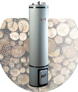 Boiler 80 litri cu focar lemn-electric 2 surse BRAUN